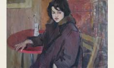 Владимир Андреев. Портрет Иры Филипповой. Х.м., 61х90. 1964