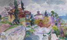 Антипова Е. Улочка в Гурзуфе.1968