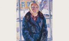 Евгения Антипова. Девушка из Переславля. Х.м., 82х61. 1964