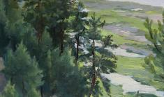 Таисия Афонина. Рязанская земля. Карт.м., 33,5х24,7. 1954