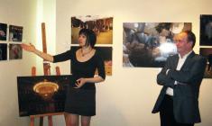 """на открытии выставки """"Закулисье"""" в галерее """"АРКА"""". 2010"""