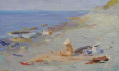Юрий Белов. На берегу моря. Х.м., 39х45. 1963