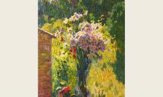 Вениамин Борисов. Полевые цветы. Х.м., 80х49.  2003
