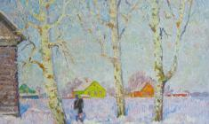 Вениамин Борисов. Зима. Х.м., 60,5х70. 1980