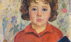 Валерий Ватенин. Портрет дочери. Х.м.,55х40. 1965