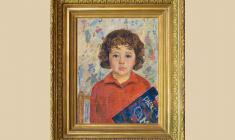 Валерий Ватенин (1933 - 1977). Портрет дочери. Х.м., 55х40.1965. Цена по запросу. Valery Vatenin. Portrait of  Daughter. 1965. Oil on canvas on board. Price on request. 瓦列里 瓦结宁