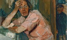 Владимир Горб. В рославльском доме. Бум.,м.,56,5х38,5. 1934