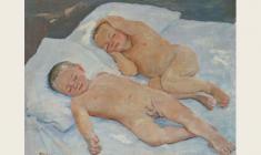 Ирина Добрякова. Сон. Х.м.,56х70. 1957