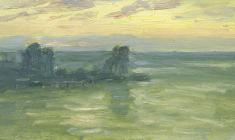 Рубен Захарьян. Утренние краски. Карт.м.,12,8х22,8. 1956