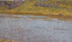 Рубен Захарьян. На Волхове. Карт.м.,18,5х24. 1959