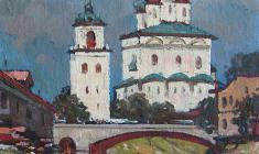 Михаил Канеев. Русская старина. Х.м.,41х41. 1974
