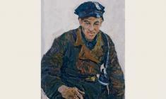 Энгельс Козлов. Шахтер. Карт.м.,70х50. 1962