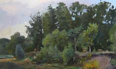 Александр Коровяков. Вечер. Х.м.,87х62. 1960
