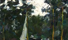 Александр Коровяков. Этюд с яхтами. Карт.м.,40х33. 1961