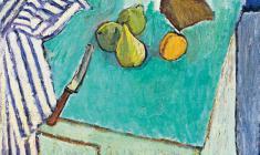 Геворк Котьянц. Зелёный натюрморт. Х.м.,50х53. 1971