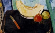 Геворк Котьянц. Дыня и груши. Х.м.,40,5х47. 1960