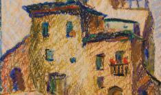 Муза Оленева.  Испания. Толедо. Сумерки. Б.,см.техн., 52х35. 1980