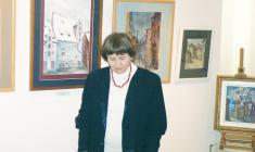 """Муза Оленева. На открытии выставки """"Династия"""" в галерее """"АРКА"""". 2010"""