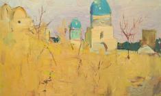 Александр Наумов. Шах-Изинда. Карт.м.,47,5х57,5. 1967