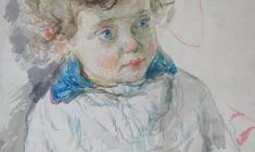 Самуил Невельштейн. Сын. Бум.,акв.,39х32,5. 1931