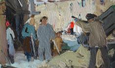 Анатолий Ненартович. Восстановление дома. Карт.м.,11,4х16,5. 1959