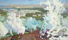 Владимир Овчинников. Весна. Х.м.,99х206. 1956