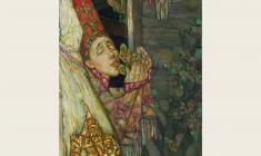 Олег Гуренков. Гадание. На суженого на ряженого. Х.м.,110х180. Фрагмент