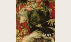 Олег Гуренков. Комоедица. Х.м.,160х120. 1997. Фрагмент