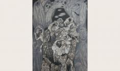 Олег Гуренков. Русские Горки. Бум.,кар.,бел.,36х60. 2000.