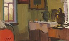 Сергей Осипов. Интерьер. Карт.м.,47,4х34,4. 1962