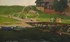 Сергей Осипов. Мостик. Карт.м.,34,5х48,5. 1958