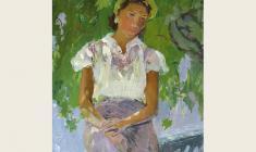 Виктор Отиев. Анна. Карт.м.,33,5х24.,1958