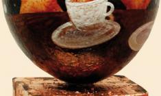 Светлана и Сабир Гаджиевы. Чай с сахаром Скорлупа яйца страуса, масло. 2011