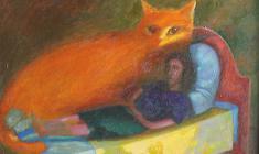 Виктор Солодкий. На диване Холст, масло, 50х70. 1993