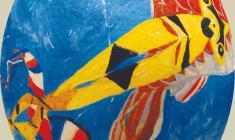 Игорь Чухлеб. Пасхальное яйцо «Полёт». Скорлупа яйца страуса, м. 2010