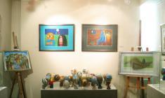 """Фрагмент экспозиции выставки """"Пасхальный калейдоскоп-3"""" в галерее """"АРКА"""". 2010"""