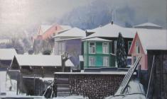 Николай Романов. А наутро выпал снег. Х.м. 85х95. 2012