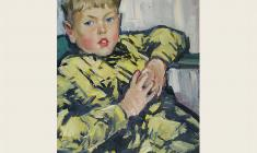 Лев Русов. Портрет сына. Х.м.,71х50. 1965