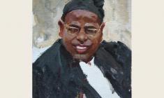 Лев Русов. Молодой индиец. Карт.м.,49,8х35. 1957