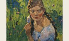 Лев Русов. Кира. Х.м.,30,5х36. 1958