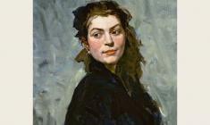 Лев Русов.Портрет Екатерины Балебиной. Х.м.,60,5х50,5. 1956