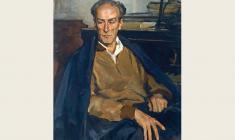 Лев Русов. Портрет Евгения Мравинского. Х.м.,95х73. 1957