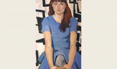 Лев Русов. Портрет Марии Корсуковой. Х.м.,120х60. 1962