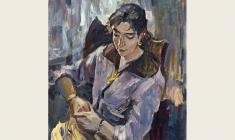 Лев Русов. Портрет Натальи Орловой. Х.м.,100х75. 1956
