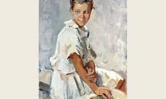Лев Русов. Зоя. Х.м.,109х72. 1957