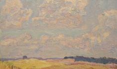 Иван Савенко. Пшеница. Карт.м.,37х47. 1969