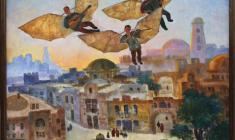 Халида Шимова. Музыканты над городом. Х.м., 70х70. 2008