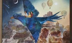 Халида Шимова. Синяя птица. Х.м.,70х90. 2004