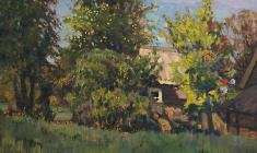 Г. Татаринов.  Солнечно.  Карт.м.,50х70. 1970
