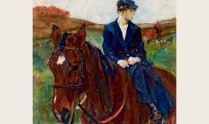 Рудольф Френц. Всадница. Х.м.,89,5х89,5. 1925